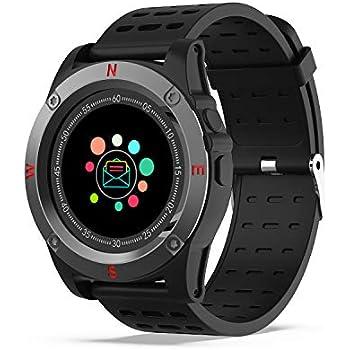 Reloj Inteligente, AIVEILE Smartwatch Bluetooth con cámara Ranura para Tarjeta SIM Pantalla táctil con Podómetro