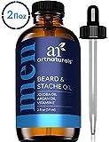 ArtNaturals Bartöl und Bart Pflege für Männer - (2 Fl Oz/59ml) - Natürlicher Conditioner mit Jojoba, Arganöl und Vitamin E - Beard and Stache Oil - Geruchsneutral