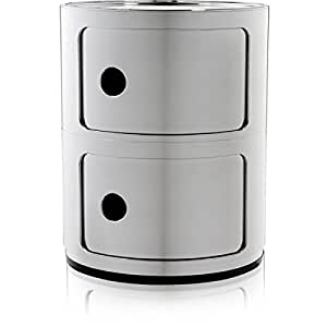 Kartell mobiletto componibili argento silber casa e cucina - Mobiletto cucina amazon ...