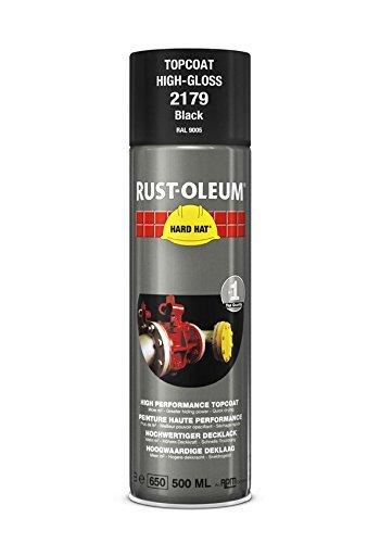 Rust-Oleum Industrie Hochglanz Schwarz RAL 9005Hard Hat 2179Aerosol Spray 500ml, High Gloss Black, 4er-Packung -