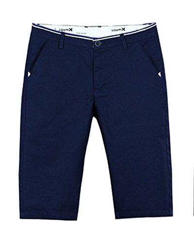 Moda Sottile Sport Casual Da Uomo Pantaloni Corti Corti Bicchierini Short Cargo Blu
