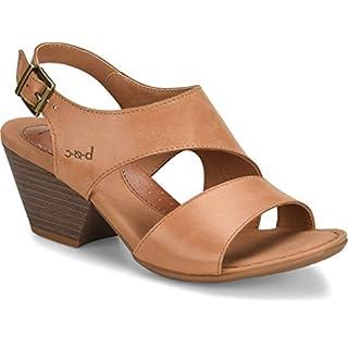 B.O.C Womens angula Leather Open Toe Casual Ankle, Natural/Saddle, Size 8.0 US / 6 UK US