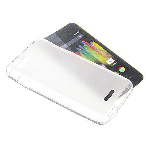 Tasche für Wiko Kite 4G Gummi TPU Schutz Handytasche milchig transparent