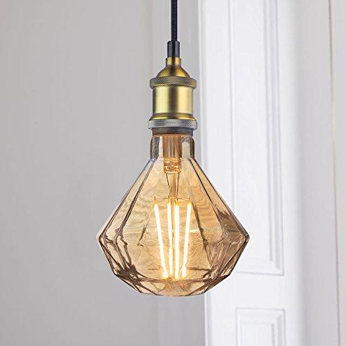 Pendelleuchte Hängeleuchte Industrielle Vintage für Wohnzimmer Esszimmer Diamant LED Birne 6W