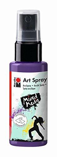 Art Spray, brillantes Acrylspray m. Pumpzerstäuber auf Wasserbasis, ideal z. Schablonieren auf Leinwand, Papier und Holz, schnell trocknend, lichtecht, wasserfest, 50 ml, pflaume ()