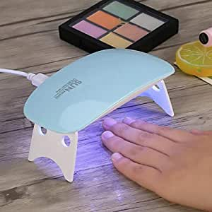 BovertyTM SUNmini 6W LED UV Nail Polish Dryer Curing Lamp Light Portable for Gel Based Polishes Manicure/Pedicure Nail Art,Nail Lamp,For All Kind Of Nail Paints(Multi Color)