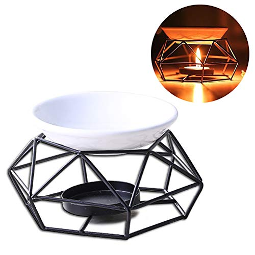 Yililay Ätherisches Öl-Brenner Metall Teelichthalter Geometrie Kerzenleuchter Tischkerze Aroma Diffuser -