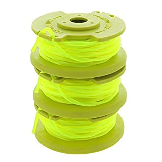 "Ryobi One PLUS+ AC80RL3 OEM .080"" Twisted Line and Spool Replacement for Ryobi 18v, 24v, and 40v Cordless Trimmers (3 Pack)"