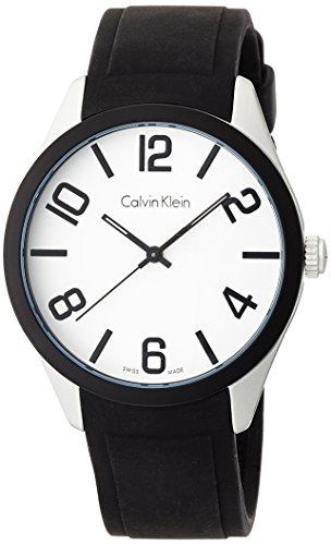 Calvin Klein Herren-Armbanduhr Analog Quarz Kautschuk K5E51CB2