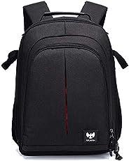 FUR JADEN DSLR SLR Camera Lens Shoulder 14 Inch Laptop Backpack for Canon Nikon Sigma Olympus with Tripod Hold