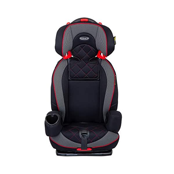 Graco Nautilus Elite Saturn Harnessed Booster Car Seat, Group 1/2/3, Red/Black Graco 2-in-1 convertible car seat for children 9 to 36 kg (approx 9 months to 12 years) From toddler to big kid, nautilus elite grows with your child; the no-rethread harness allows you to easily adjust the harness and headrest together Convenient one-hand height and width adjustable headrest 6