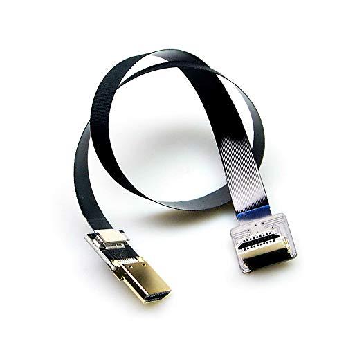 KINGDUO FPV Flat Slim Hdmi Kabel Standard Hdmi Auf Mini Hdmi 90 Grad Winkel Für FPV Gimbal-20Cm