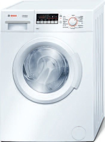 Bosch Serie 2 WAB20261II freestanding Front-load 6kg 1000RPM A+++ White washing machine - washing machines (Freestanding, Front-load, White, Left, LED, Stainless steel)
