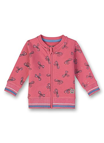 Sanetta Baby-Mädchen Sweatjacke Sweatjacket Rosa (Lotus Rose 3224.0) 74