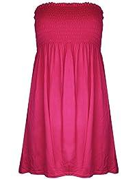 NEW trendy-clothings robe tunique Bandeau Bustier sans bretelles mini robe sans manches pour femme