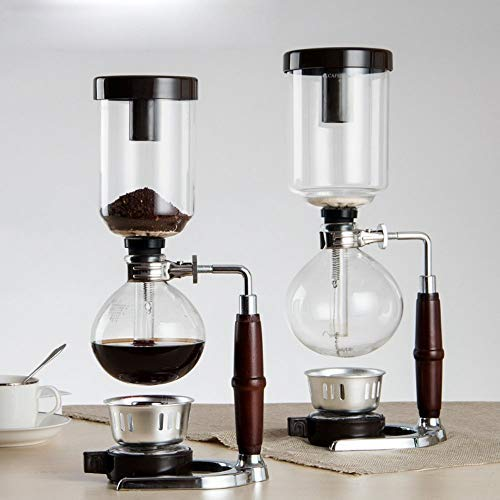 DecentGadget® Coffee Syphon / Vacuum Glass Coffee Maker Kaffee Syphon Kaffeemaschine