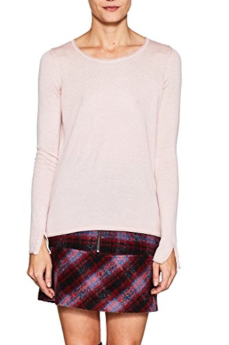ESPRIT Damen Pullover 997EE1I805, Rosa (Light Pink 2 691), Small