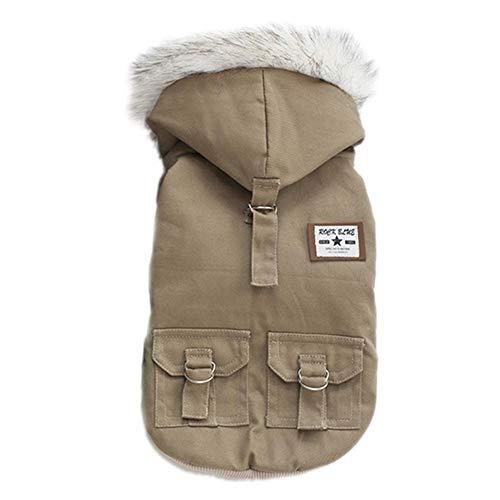 LovelyPet Haustier Hund Kleidung Baumwolle Militär Mantel Air Force Anzug Haustier Hund Winter Kleidung Hund Mäntel Jacken for Kleine Hunde Kleidung (Color : Gray, Size : S) -