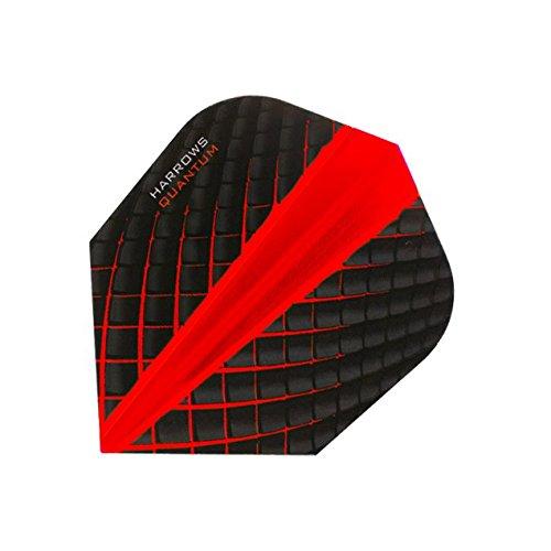 Harrows Quantum Dart Flights 3D Effekt-100Mikron-Standard Form-Rot-5sets (15) - Standard Form 100