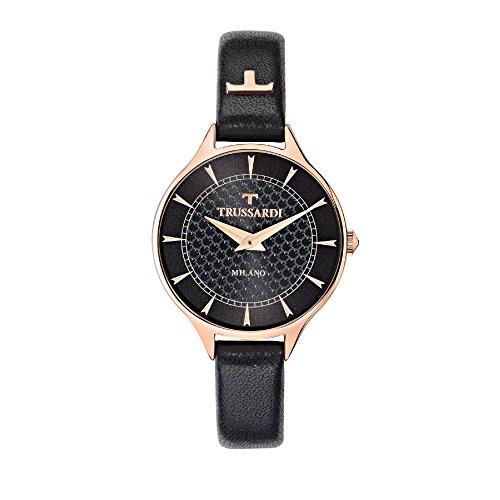 TRUSSARDI Reloj Analógico para Mujer de Cuarzo con Correa en Cuero R2451122504