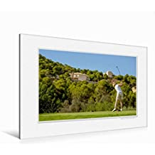 Premium Textil-Leinwand 120 cm x 80 cm quer Emotional Moment: Golf. | Wandbild, Bild auf Keilrahmen, Fertigbild auf echter Leinwand, Leinwanddruck (CALVENDO Orte)