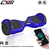 """CXM R2-Hoverboard UL 2272 Certified Self Balancing Electric Scooter 6.5"""" For Adult And Kids With LED Light And App (Blue)"""