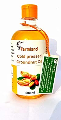 Farmland's Pure and Fresh Cold Pressed Groundnut Oil for Cooking - 0.5litre