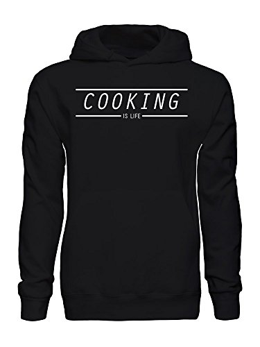 graphke Cooking is Life Kapuzenpulli für Herren Small