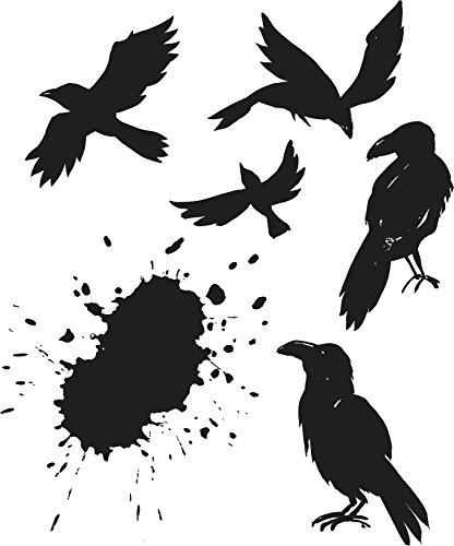 onymous Ravens selbst Gummi-Stempel-Set, Kunststoff, Mehrfarbig, 24,8x 18,6x 0,8cm ()
