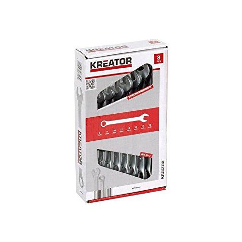 Clé mixte 8 pièces Kreator Clé 8-19 mm Clé à fourche