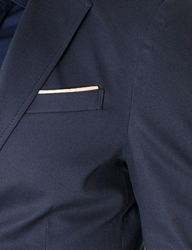 MODERNO - Slim Fit Business Herren Sakko Blazer (MOD14517B) Dunkelblau