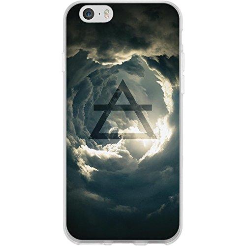 PhoneNatic Case für Apple iPhone 6s / 6 Silikon-Hülle Element Erde M2 Case iPhone 6s / 6 Tasche + 2 Schutzfolien Motiv:01 Element Luft