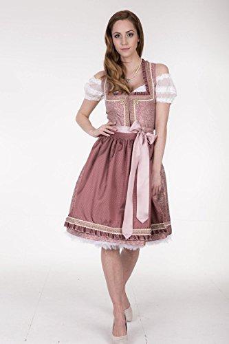 Damen Krüger Madl Dirndl kurz rosé, rosa, Rosa
