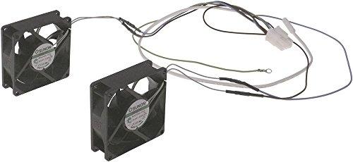 Gram Axiallüfter für Kühl-/Tiefkühlschrank mit Fühler 4,6W 230V AC 50/60Hz Anschluss Stecker Breite 80mm Höhe 25mm 2-teilig