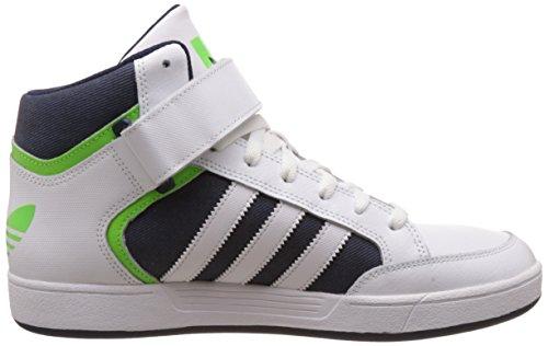adidas Varial Mid, Chaussures de Skate Homme Blanc (Ftwr White/Solar Green/Collegiate Navy)