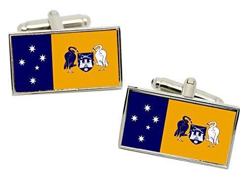Family Crests Australische Hauptstadt Territorium Act Flagge Manschettenknöpfe in Chromgehäuse -