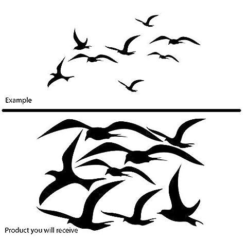 Car side wall window fancy set of 8 various romantic birds gulls terns (40 cm x 60 cm) Colour Black Bathroom, Childs Bedroom, Children Room Stickers, Car vinyl, Windows and Wall Sticker, Wall Windows Art, Decals, Ornament Vinyl Sticker ThatVinylPlace by ThatVinylPlace