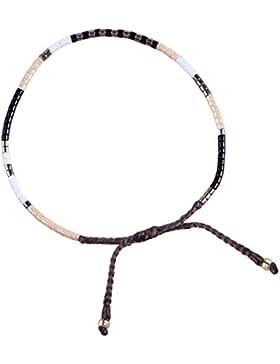 KELITCH Gemischt Farbe Rocailles Perlen Dünn Seil Armband Armbänder Set