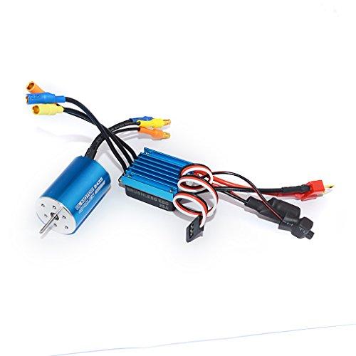 Segolike 2435 4800KV 4P Sensorless Brushless Motor with 25A ESC for 1/16 1/18 RC Car