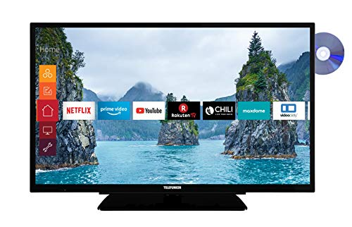 Telefunken XF32G519D 81 cm (32 Zoll) Fernseher (Full HD, Triple Tuner, Smart TV, Prime Video, DVD-Player integriert, Bluetooth)
