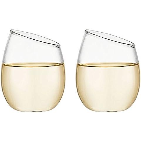 easytar cristallo vino bicchiere di vino rosso Whisky Brandy–Set di 2