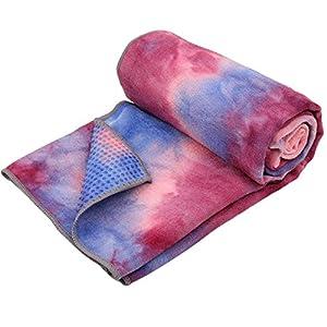Arcweg Yoga Handtuch Rutschfest Mikrofaser Decke der Yogamatte Antibakteriell Saugfähig Yogatuch Gut Bodenhaftung Yoga Towel Fitnessmatte 183x63cm für Hot Yoga Fitness Sport