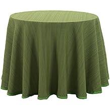 Martina Home Ribero - Falda para mesa camilla , Verde, Redonda de 100