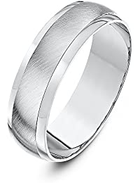 Theia Super Heavy Weight D-Shape with Matt Centre Palladium 950 Wedding Ring