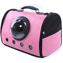 Alessioy Mochila para Mascotas Bolsa De Viaje Gatos Espacio Suave con Estilo único Gato Y Cachorro