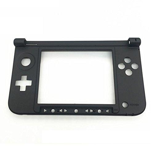 GOZAR Reemplazo Bisagra Parte Inferior Negro Carcasa Media Shell Para Nintendo 3Ds Xl