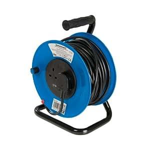 PowerMaster 303754 Cable Reel 240V Freestanding 13A 25m 2 Socket