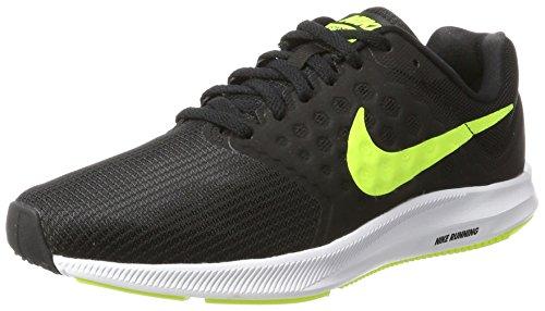 Nike Downshifter 7, Chaussures de Running Homme Noir (Noir/Blanc/Volt)