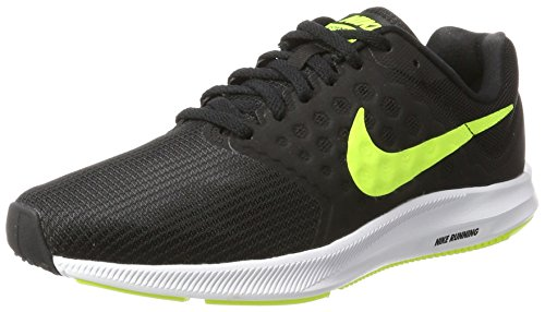 Nike Herren Downshifter 7 Laufschuhe, Schwarz (Black/Volt/White), 46 EU