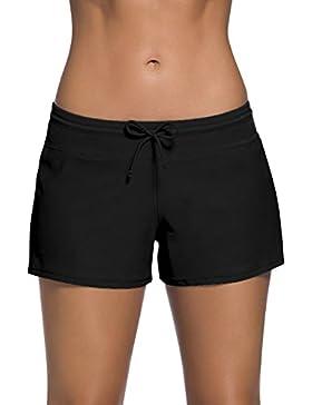 Dolamen Donna Pantaloni da Nuoto, Costumi da bagno Donna Pantaloncini Bikini Costume intero moda da bagno Swimsuit...